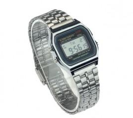 Digitale Retro Uhr Silber KOSTENLOS