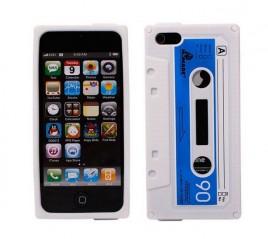 GratisDeal Retro-Kasetten-Case für iPhone 5 5S 5C in Weiss KOSTENLOS