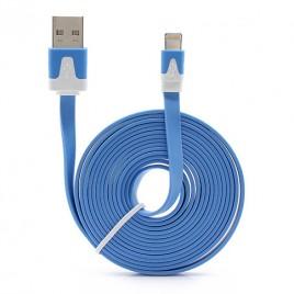 USB-Flat-Kabel für iPhone 55S5C in Blau - 100 KOSTENLOS