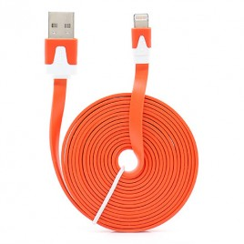 USB-Flat-Kabel für iPhone 55S5C in Orange - 100 KOSTENLOS